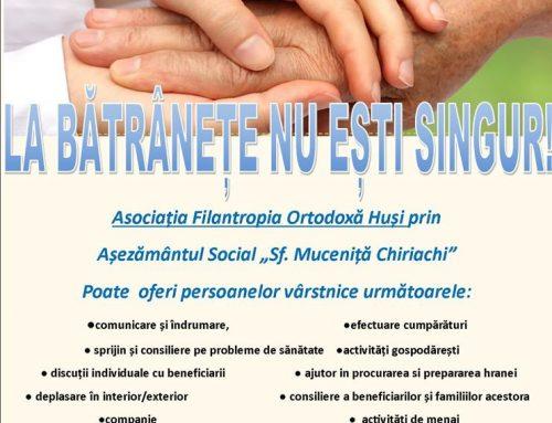 """Campania umanitară – """"La bătrânețe nu ești singur!"""""""