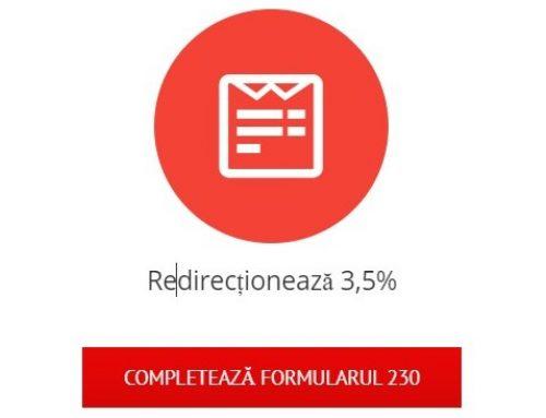 Redirecționează 3,5% pentru fapte bune!